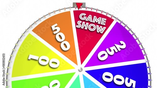 Game Show Spinning Wheel Win Big Prize 3d Animation