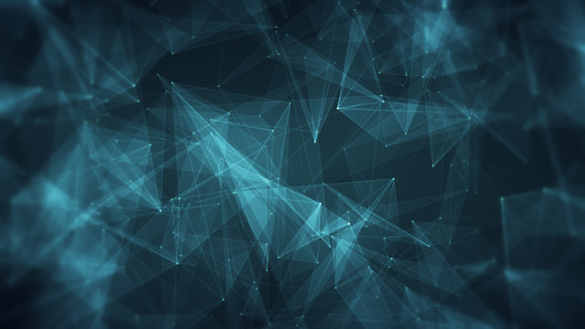 Abstract CGI motion graphics background 3d illustration