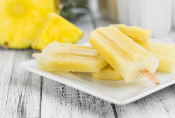 Pineapple Popsicles (selective focus)