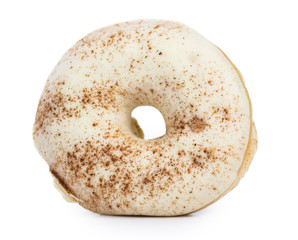 Donuts isolated on white (close-up shot)