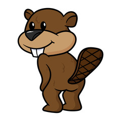 Cartoon Beaver Character