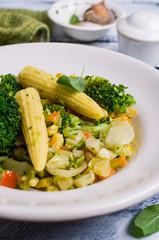 Steamed vegetable mix