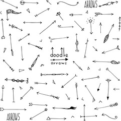 hand sketched doodle simple arrows