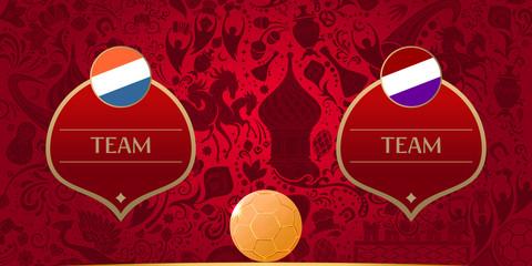 Template for soccer match, vector illustration
