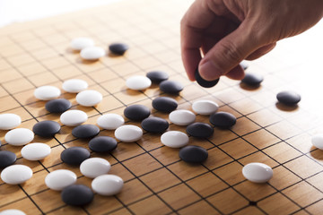 Go. Traditional asian strategy board game. Fototapete