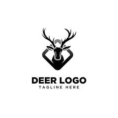 Square deer logo