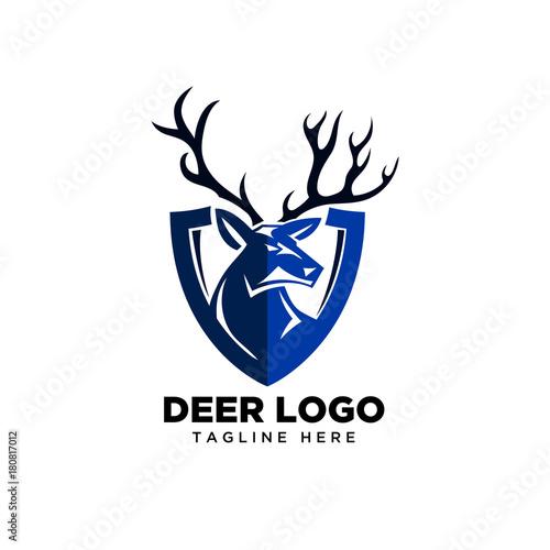 Deer Head Shield Logo
