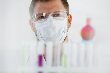 A portrait of a young surgeon chemist's doctor