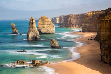 The iconic 12 Apostles Wall mural