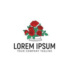 roses logo design concept template
