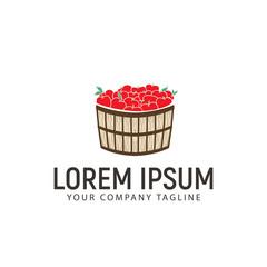 apple basket logo design concept template