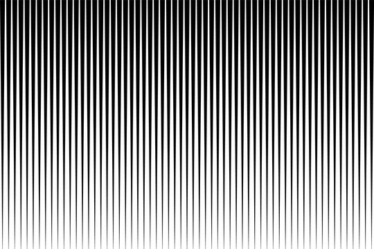 Black and white simple pattern. Light effect. Gradient background with line . Halftone design .