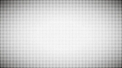 Fotobehang Pop Art Abstract black and white dots background. Comic pop art style. Light effect. Gradient background with dots.