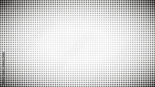Abstract Black And White Dots Background Comic Pop Art Style Light Effect Gradient