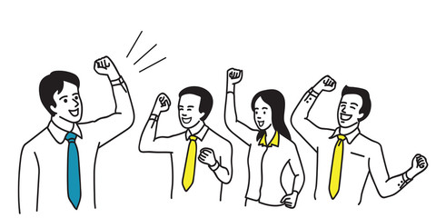 Successful business teamwork