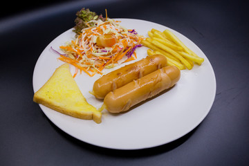 Sausage on the plate