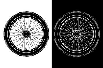Wheel. White and back drawing