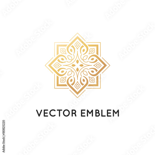 Vector Logo Design Template Abstract Symbol In Ornamental Arabic