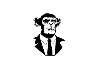 Monkey Handsome with Suit