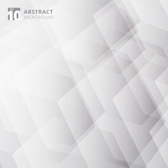 Abstract technology geometric gray and white color background.