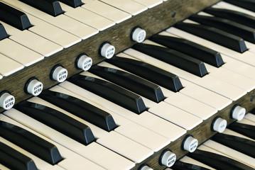Church organ keys.