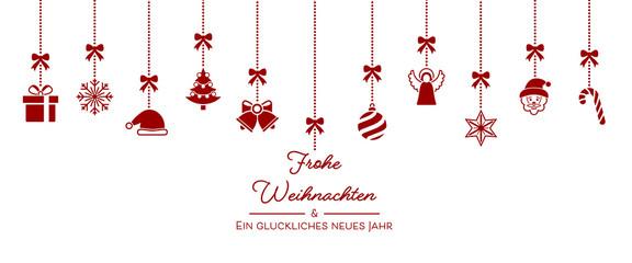Weihnachten Icons von der Decke - Rot