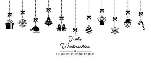 Weihnachten Icons von der Decke - Schwarz