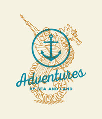 Adventure by sea and land
