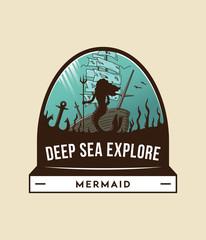 Deep sea exploration badge