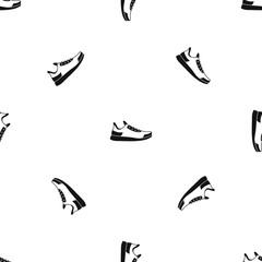 Sneaker pattern seamless black