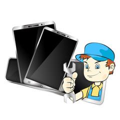 Repair of mobile phones and smartphones