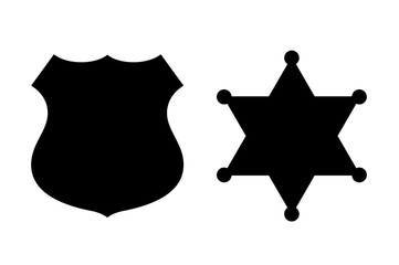 Policeman and sheriff badge icon