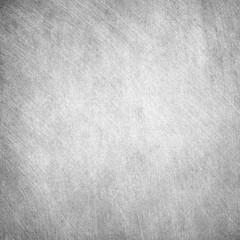 Aged grunge, scratched gray square metal texture. Old iron background