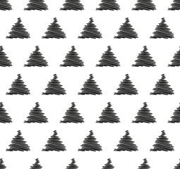 Christmas seamless pattern, card - Scandinavian sweater style.
