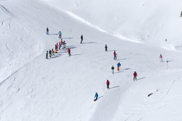 Österreich, Montafon, Skigebiet Silvretta Montafon, Skipiste am Hochjoch.