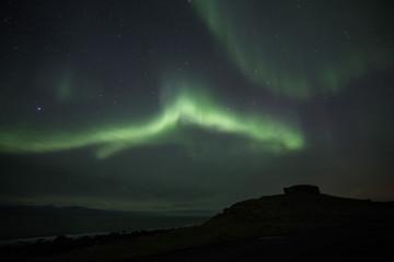 Aurora in Lofoten at Eggum Castle