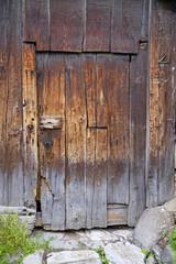 Old grunge wooden entrance 1