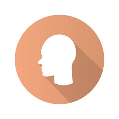 User flat design long shadow glyph icon