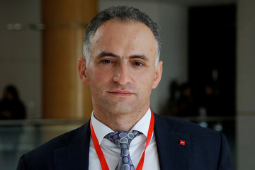 Igor Marich, Moscow Exchange's managing director of money and derivates market poses for a photo in Beijing