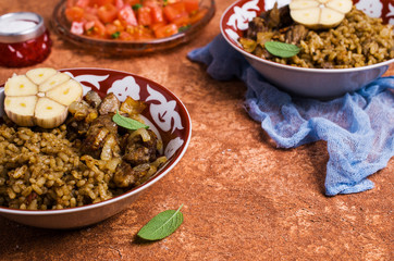 Rice with spices and meat