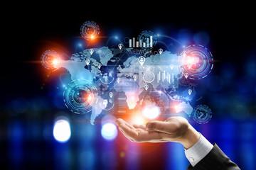 Presenting new technologies. Mixed media