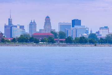 Panorama of Buffalo across Niagara River