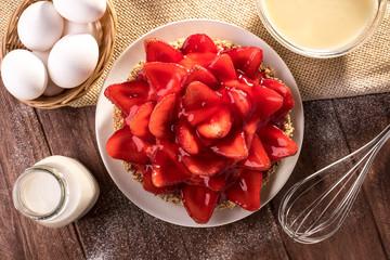 Traditional Brazilian Strawberry Pie