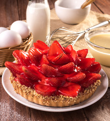 Traditional Brazilian Strawberry Pie