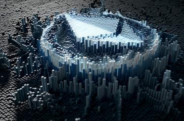 Pixel Ethereum Concept