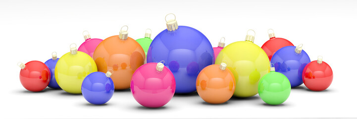 boules de noël multicolores