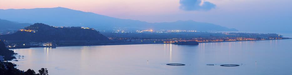 Panorama of Salobrena at sunrise
