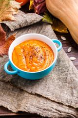 Image of pumpkin mashed potatoes in saucepan