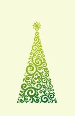 stylized green Christmas tree