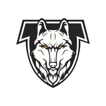 wolves logo mascot design illustration